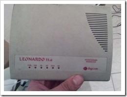 Il vecchio modem Leonardo da 33.6kbps per le normali linee telefoniche